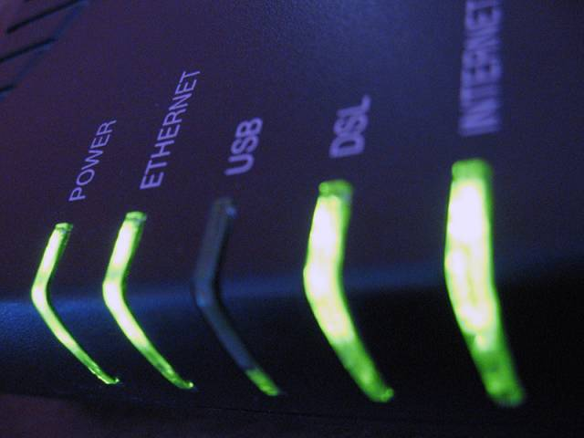 Adsl router - internet lampice